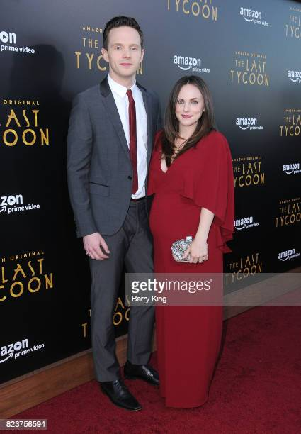 Actor Mark O'Brien and wife Georgina Reilly attend the premiere of Amazon Studios' 'The Last Tycoon' at the Harmony Gold Preview House and Theater on...