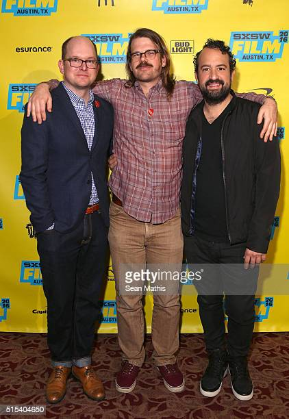 """Actor Mark Proksch, writer/director Carson D. Mell and actor Steve Zissis attend the premiere of """"Another Evil"""" during the 2016 SXSW Music, Film +..."""