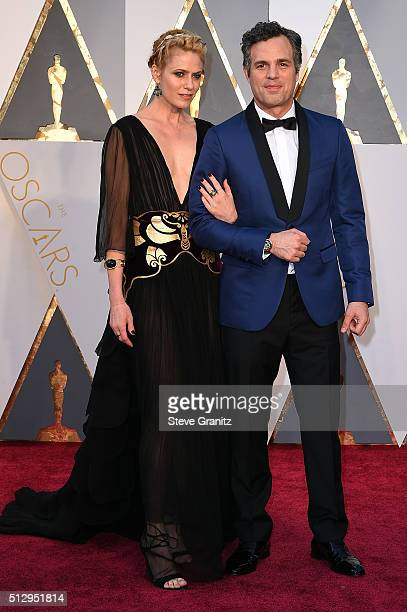Actor Mark Ruffalo and actress Sunrise Coigney attend the 88th Annual Academy Awards at Hollywood Highland Center on February 28 2016 in Hollywood...