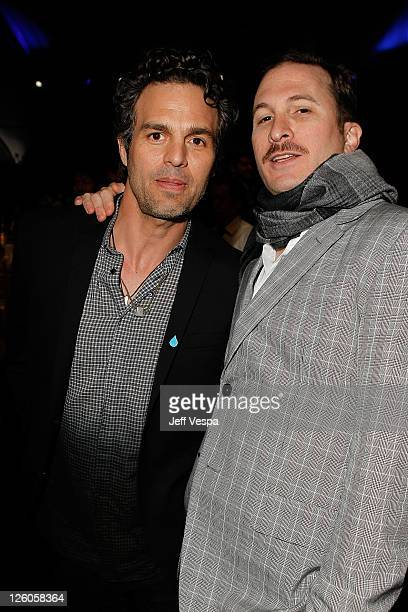 Actor Mark Ruffalo and director Darren Aronofsky attend the 2011 Film Independent Spirit Awards at Santa Monica Beach on February 26 2011 in Santa...