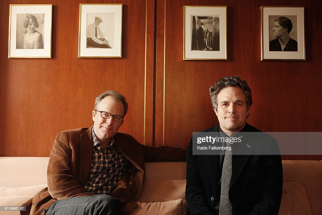 Actor Mark Ruffalo and director Tom McCarthy of 'Spotlight' are photographed for Los Angeles Times on February 2, 2016 in Los Angeles, California. PUBLISHED IMAGE.