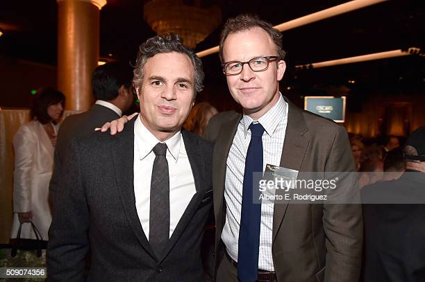 Actor Mark Ruffalo and director/screenwriter Tom McCarthy attend the 88th Annual Academy Awards nominee luncheon on February 8 2016 in Beverly Hills...