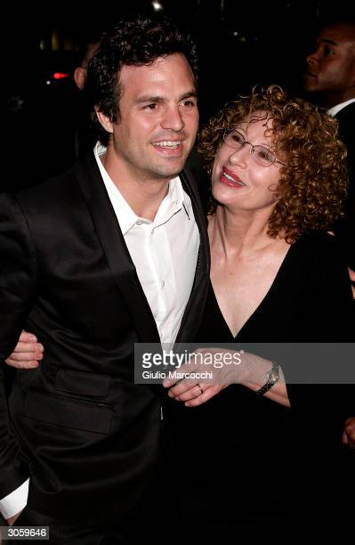 Actor Mark Ruffalo and his Mum Marie arrive at the world premiere of Focus Feature's Eternal Sunshine of the Spotless Mind on March 9 2004 at the...