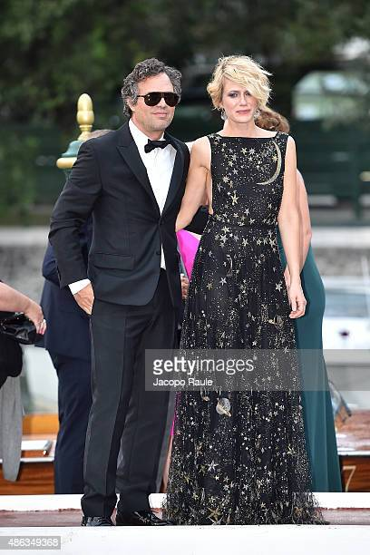 ab165b6a9d Actor Mark Ruffalo and Sunrise Coigney are seen during the 72nd Venice Film  Festival on September