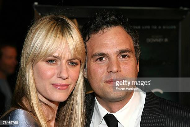 Actor Mark Ruffalo and wife Sunrise Ruffalo arrive at the Paramount Pictures' Premiere Of 'Zodiac' held at Paramount Studios on March 12007 in Los...