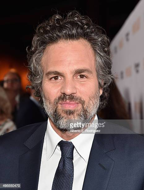 Actor Mark Ruffalo attends a special screening of Open Road Films' 'Spotlight' at The DGA Theater on November 3 2015 in Los Angeles California