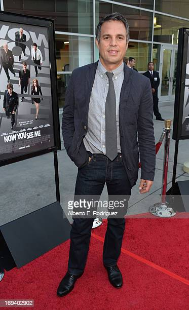 Actor Mark Ruffalo attends a special screening of Summit Entertainment's Now You See Me at the ArcLight Theaters Hollywood on May 23 2013 in...
