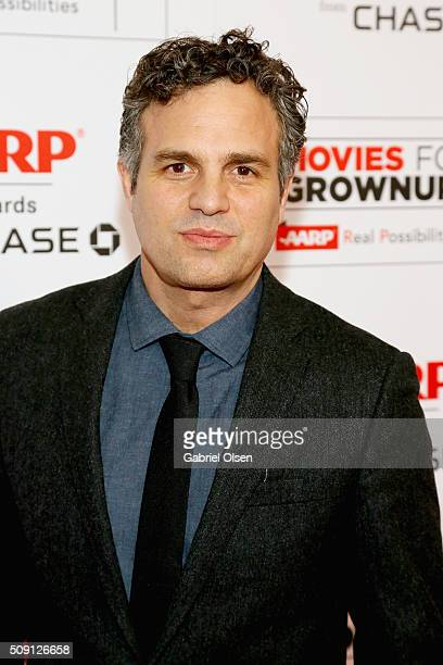 Actor Mark Ruffalo attends AARP's Movie For GrownUps Awards at the Beverly Wilshire Four Seasons Hotel on February 8 2016 in Beverly Hills California