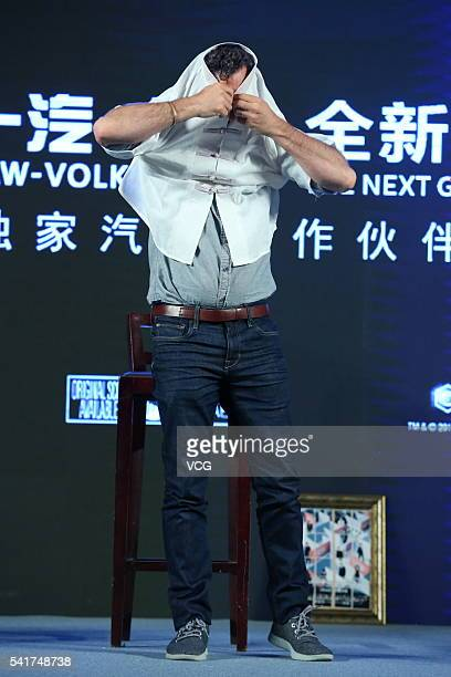 Actor Mark Ruffalo attends 'Now You See Me 2' press conference at Park Hyatt Hotel on June 20 2016 in Beijing China