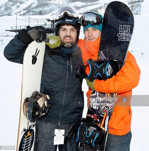 Actor Mark Ruffalo attends Oakley 'Learn To Ride' Snowboard fueled by Muscle Milke on January 24 2010 in Park City Utah