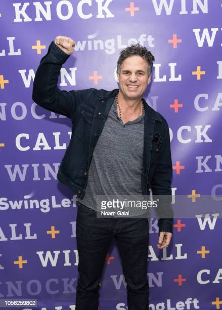 Actor Mark Ruffalo attends Swing Left's The Last Weekend Election Rally at Cooper Union on November 1 2018 in New York City