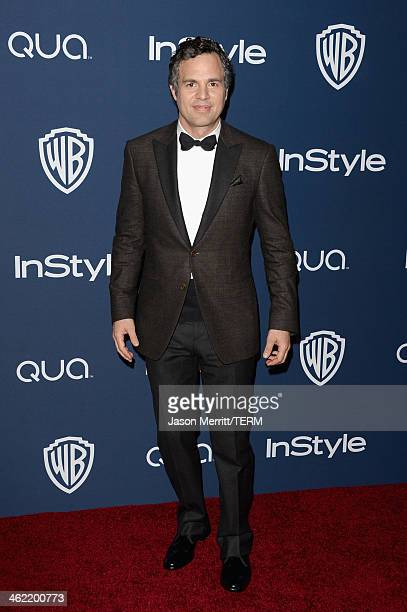 Actor Mark Ruffalo attends the 2014 InStyle and Warner Bros 71st Annual Golden Globe Awards PostParty on January 12 2014 in Beverly Hills California