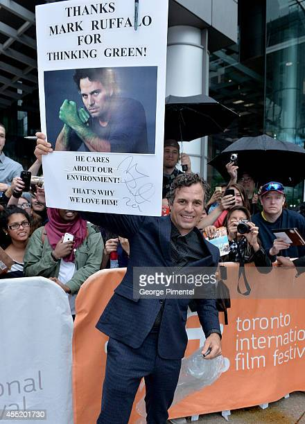 "Actor Mark Ruffalo attends the ""Infinitely Polar Bear"" premiere during the 2014 Toronto International Film Festival at Roy Thomson Hall on September..."