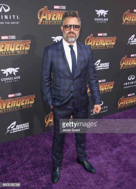 Actor Mark Ruffalo attends the Los Angeles Global Premiere for Marvel Studios' Avengers Infinity War on April 23 2018 in Hollywood California