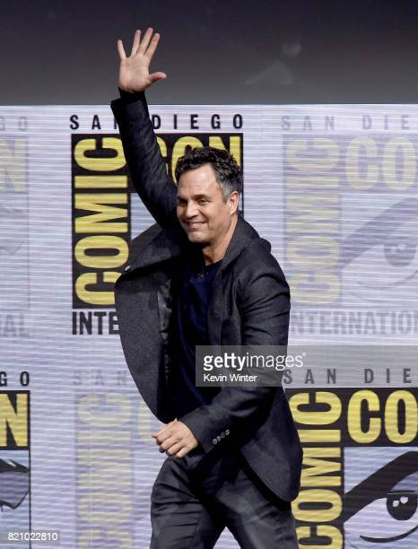 Actor Mark Ruffalo attends the Marvel Studios 'Thor Ragnarok' Presentation during ComicCon International 2017 at San Diego Convention Center on July...