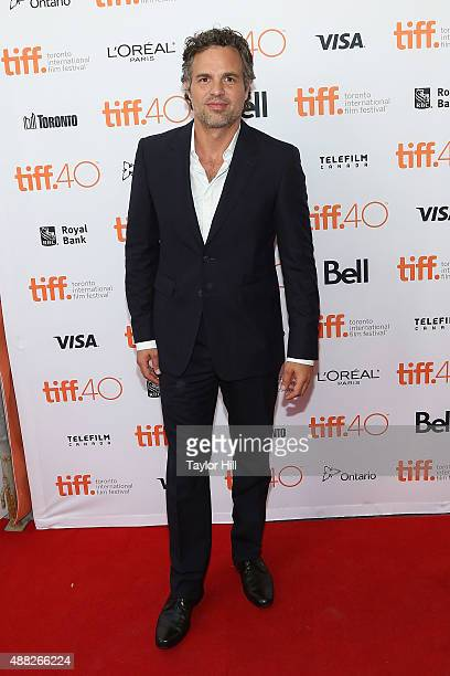 Actor Mark Ruffalo attends the premiere of 'Spotlight' at Princess of Wales Theatre during the 2015 Toronto International Film Festival on September...