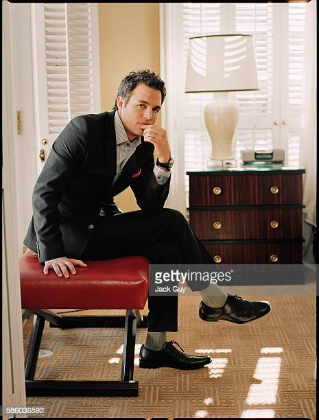 Actor Mark Ruffalo is photographed for Gotham Magazine in 2006