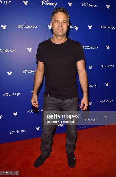 Actor Mark Ruffalo of AVENGERS INFINITY WAR took part today in the Walt Disney Studios live action presentation at Disney's D23 EXPO 2017 in Anaheim...