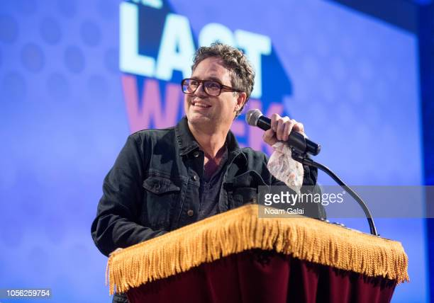 Actor Mark Ruffalo speaks during Swing Left's 'The Last Weekend' Election Rally at Cooper Union on November 1 2018 in New York City