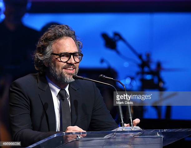 Actor Mark Ruffalo speaks onstage during the Screen Actors Guild Foundation 30th Anniversary Celebration at Wallis Annenberg Center for the...
