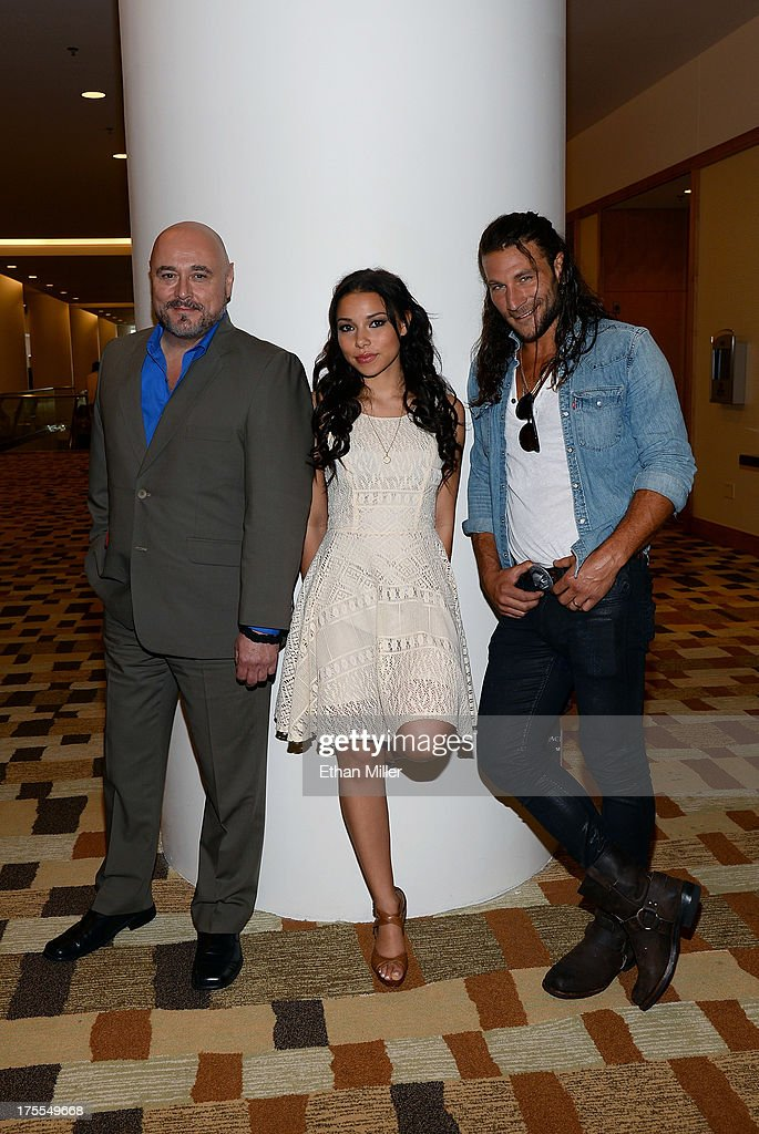 Actor Mark Ryan, actress Jessica Parker Kennedy and actor Zach McGowan from Starz's new series 'Black Sails' pose during Comic-Con International 2013 at the Hilton San Diego Bayfront Hotel on July 19, 2013 in San Diego, California.