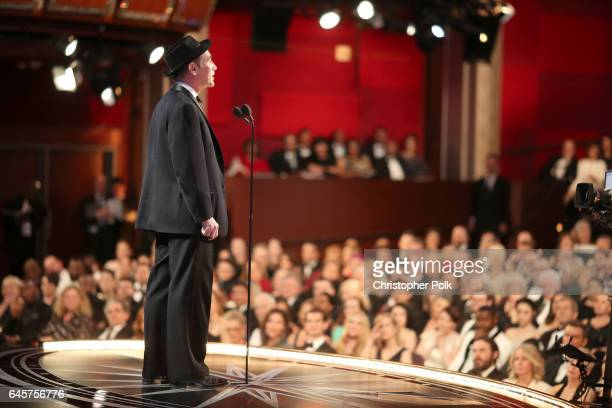 Actor Mark Rylance presents the award for 'Best Supporting Actress' during the 89th Annual Academy Awards at Hollywood Highland Center on February 26...