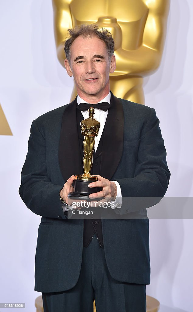 Actor Mark Rylance, winner of the award for Best Actor in a Supporting Role for 'Bridge of Spies' poses in the press room during the 88th Annual Academy Awards at Loews Hollywood Hotel on February 28, 2016 in Hollywood, California.