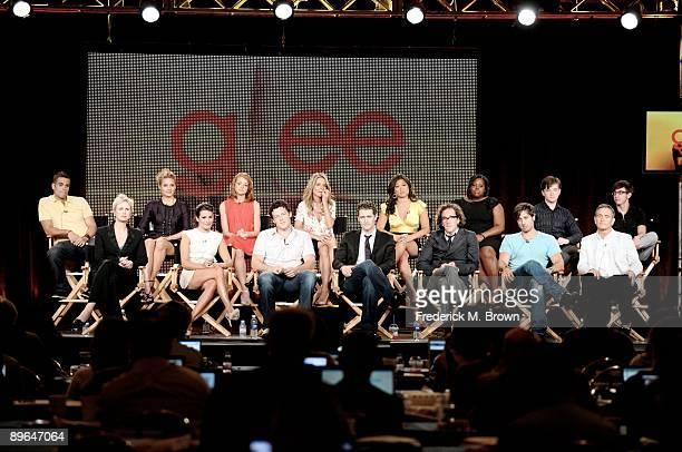 Actor Mark Salling, actress Jane Lynch, actress Dianna Agron, actress Lea Michele, actress Jayma Mays, actor Cory Monteith, actress Jessalyn Gilsig,...