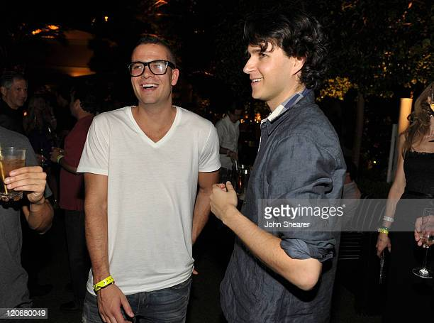 Actor Mark Salling and musician Ezra Koenig of Vampire Weekend attend the after party for the Fallout New Vegas Launch Event Featuring Vampire...