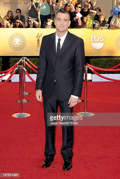 Actor Mark Salling arrives at the 18th Annual Screen Actors Guild Awards at The Shrine Auditorium on January 29 2012 in Los Angeles California