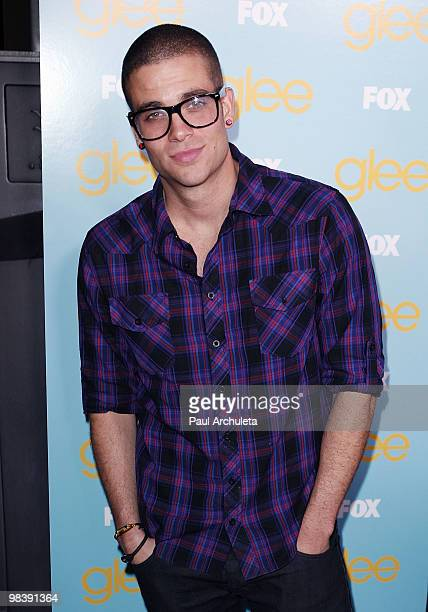 Actor Mark Salling arrives at the 'GLEE' fountain show and outdoor screening of the spring premiere episode at The Grove on April 10 2010 in Los...