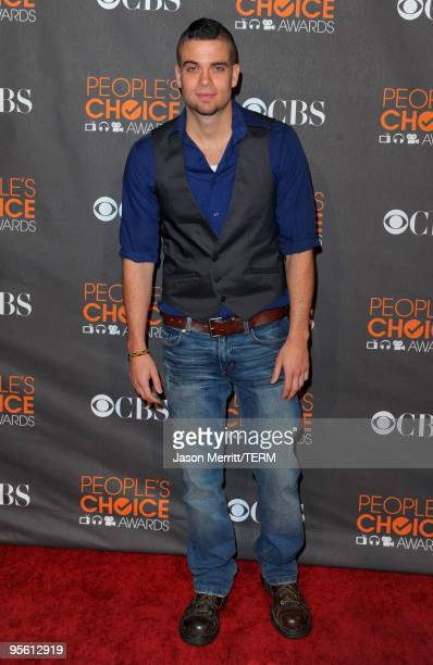 Actor Mark Salling arrives at the People's Choice Awards 2010 held at Nokia Theatre LA Live on January 6 2010 in Los Angeles California