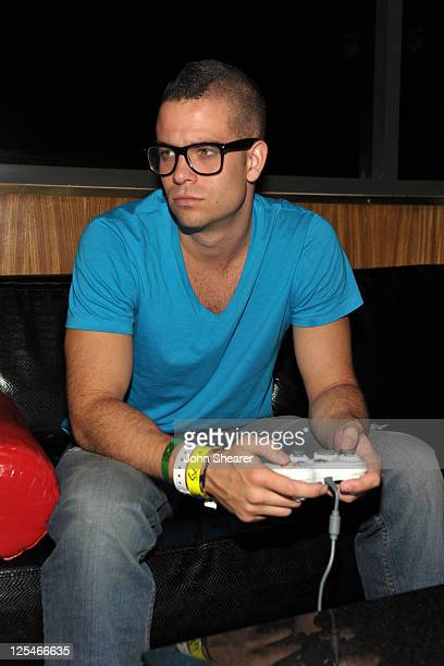 Actor Mark Salling attends the Fallout New Vegas launch event featuring Vampire Weekend at Rain Nightclub inside the Palms Casino Resort on October...