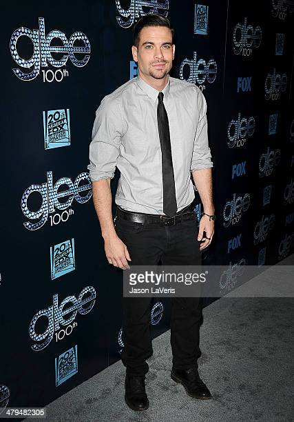 Actor Mark Salling attends the 'Glee' 100th episode celebration at Chateau Marmont on March 18 2014 in Los Angeles California