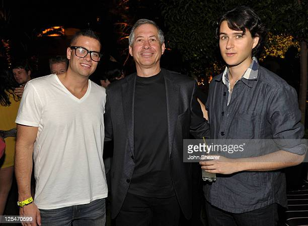 Actor Mark Salling Chairman and CEO of ZeniMax Media Robert Altman and musician Ezra Koenig of Vampire Weekend attend the after party for the Fallout...