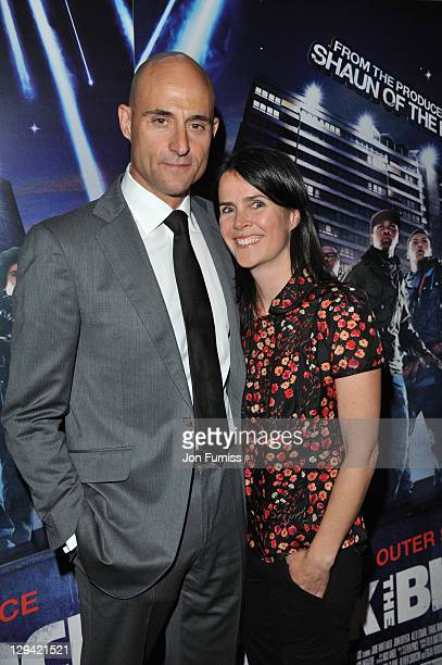 Actor Mark Strong and Liza Marshall arrive for the 'Attack The Block' UK Premiere at Vue Leicester Square on May 4 2011 in London England