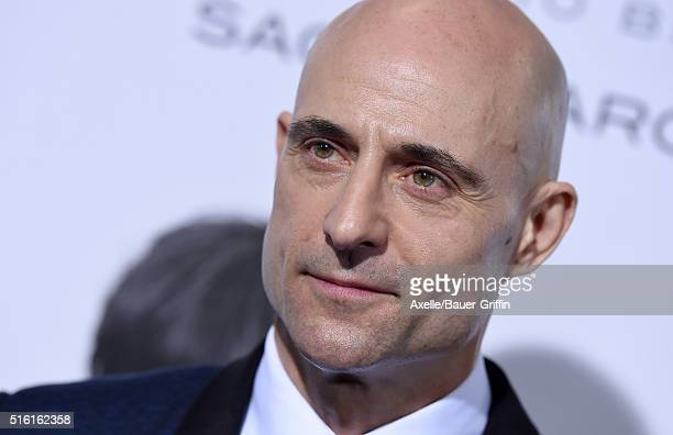 Actor Mark Strong arrives at the premiere of Columbia Pictures And Village Roadshow Pictures 'The Brothers Grimsby' at Regency Village Theatre on...