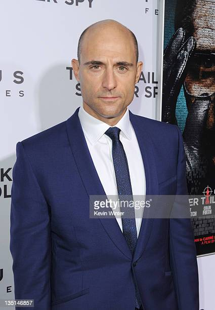 """Actor Mark Strong arrives at the premiere of Focus Features' """"Tinker, Tailor, Soldier, Spy"""" at Arclight Cinema's Cinerama Dome on December 6, 2011 in..."""