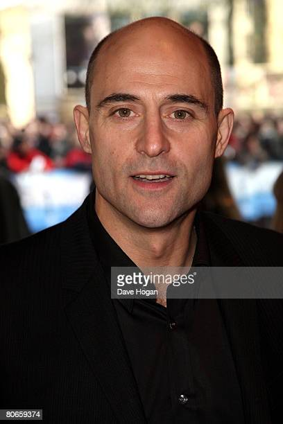 Actor Mark Strong arrives at the UK premiere of 'Flashbacks of a Fool' at the Empire cinema Leicester Square on April 13 2008 in London England