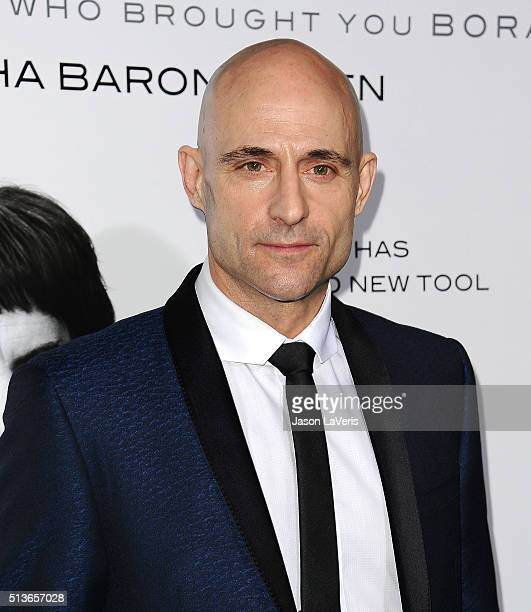 Actor Mark Strong attends the premiere of 'The Brothers Grimsby' at Regency Village Theatre on March 3 2016 in Westwood California