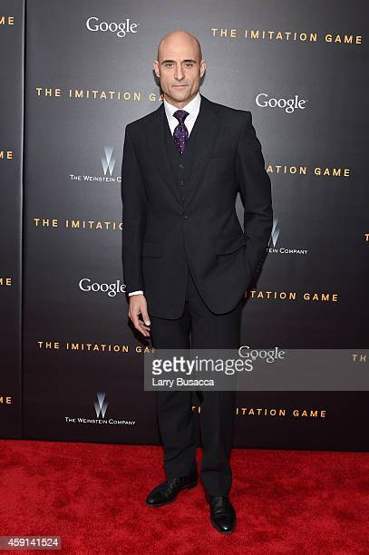 Actor Mark Strong attends the The Imitation Game New York Premiere at Ziegfeld Theater on November 17 2014 in New York City