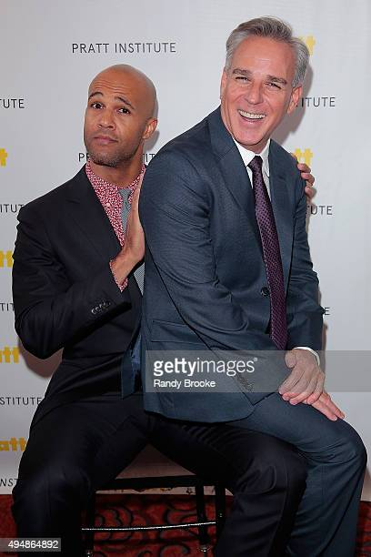 Actor Mark Tallman and Director and Broadway and film Producer and Director Craig Saavedra attend the Pratt Legends 2015 Gala at Mandarin Oriental...