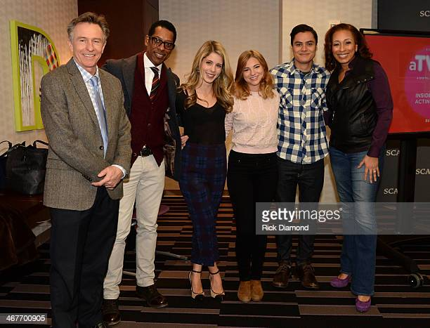 Actor Mark Tymchyshyn Orlando Jones of Sleepy Hollow Emily Bett Rickards of Arrow Allie Gonino of The Red Road Kiowa Gordon of The Red Road and...