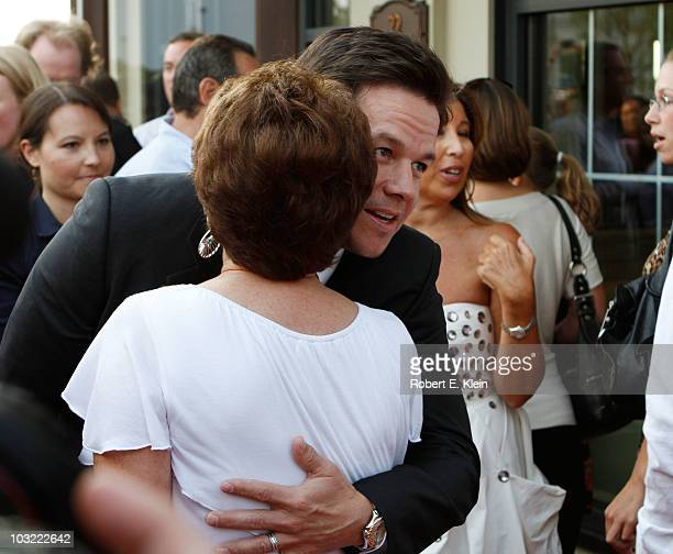 Actor Mark Wahlberg and Alma Wahlberg attend a screening of 'The Other Guys' at Alma Nove on August 3 2010 in Hingham Massachusetts