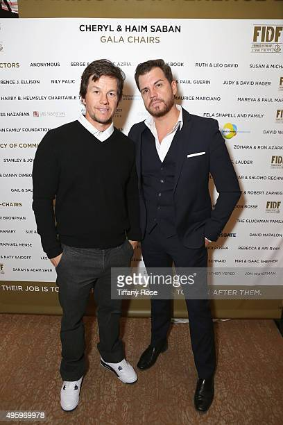 Actor Mark Wahlberg and Dave Osokow attend Friends Of The Israel Defense Forces Western Region Gala at The Beverly Hilton Hotel on November 5 2015 in...