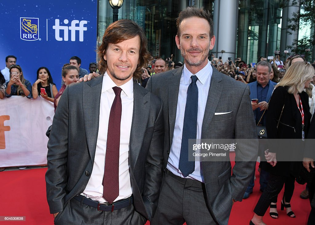 Actor Mark Wahlberg (L) and director Peter Berg attend the 'Deepwater Horizon' premiere during the 2016 Toronto International Film Festival at Roy Thomson Hall on September 13, 2016 in Toronto, Canada.