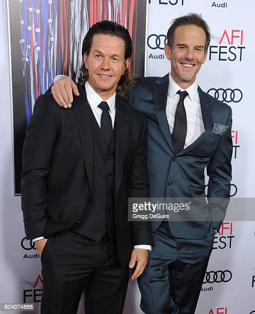 Actor Mark Wahlberg and director/writer Peter Berg arrive at the AFI FEST 2016 Presented By Audi Closing Night Gala Screening Of Lionsgate's...