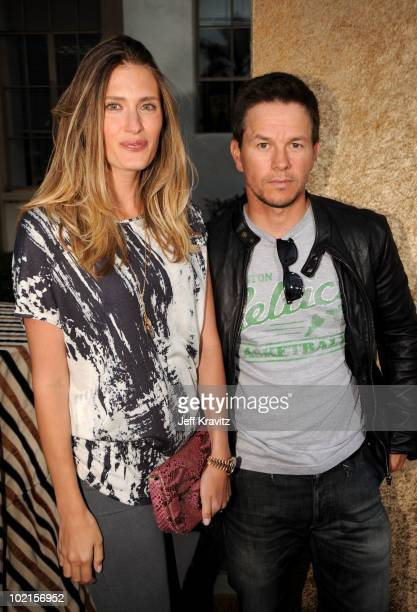 Actor Mark Wahlberg and model Rhea Durham arrive at HBO's Entourage Season 7 premiere held at Paramount Theater on the Paramount Studios lot on June...