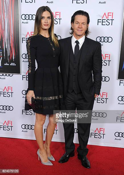 Actor Mark Wahlberg and model Rhea Durham arrive at the AFI FEST 2016 Presented By Audi Closing Night Gala Screening Of Lionsgate's Patriots Day at...