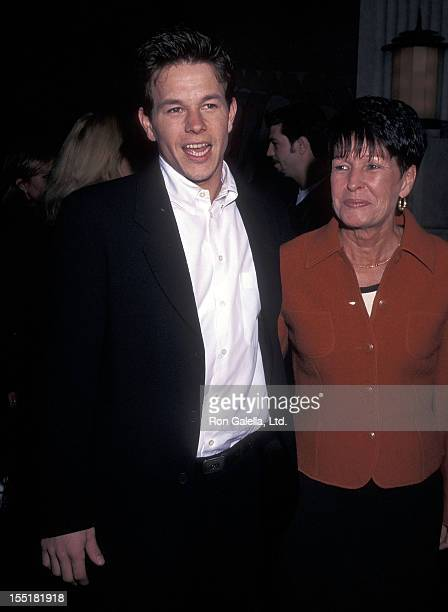 Actor Mark Wahlberg and mother Alma Wahlberg attend the 'Les Miserables' New York City Premiere on April 20 1998 at Sony Theatres Lincoln Square in...